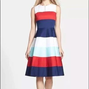 ❤️💙 Kate Spade Striped Fit and Flare Dress
